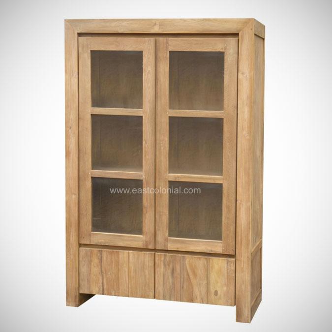 Oregon Cupboard 2 Glass Door & East Colonial